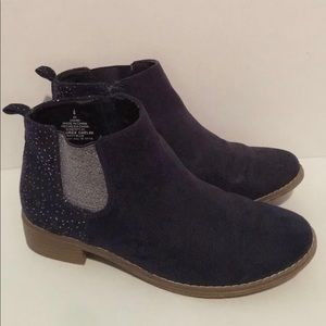 Old Navy silver and navy blue ankle boots
